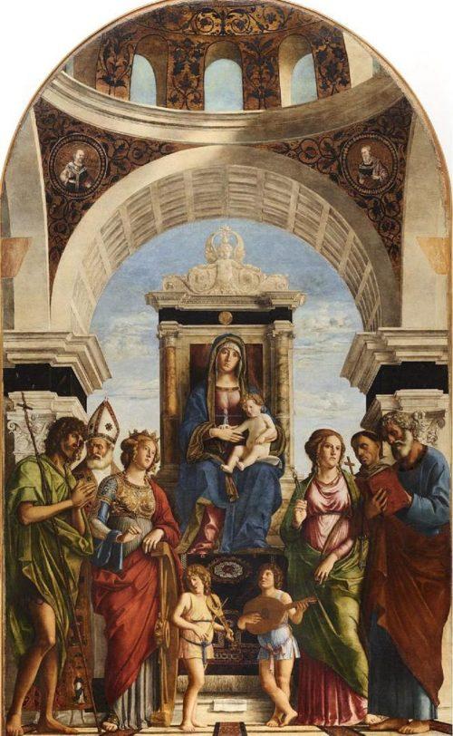 800px-Cima_da_Conegliano_-_Madonna_in_trono_col_Bambino_fra_angeli_e_santi